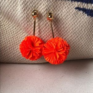 J. Crew Pom Pom Earrings